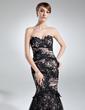 Denizkızı Kalp Kesimli Uzun Etekli Charmeuse Lace Gelin Annesi Elbisesi Ile Büzgü (008005942)