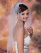One-tier Elbow Bridal Veils With Pencil Edge (006003760)