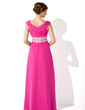 A-Line/Princess Off-the-Shoulder Floor-Length Chiffon Mother of the Bride Dress With Ruffle Lace Beading Sequins (008005991)