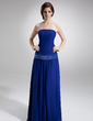 A-Line/Princess Strapless Floor-Length Chiffon Mother of the Bride Dress With Beading Sequins (008005671)