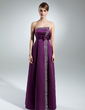 A-Line/Princess Strapless Floor-Length Satin Mother of the Bride Dress With Beading Sequins Bow(s) (008015527)