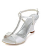 Women's Satin Wedge Heel Sandals Slingbacks Wedges With Buckle Rhinestone (047011867)