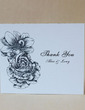 Personalized Lovely Rose Hard Card Paper Thank You Cards (Set of 50) (118029377)