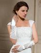 Elastic Satin Elbow Length Bridal Gloves (014024479)