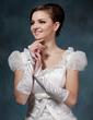 Elastic Satin Elbow Length Bridal Gloves (014020523)