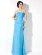 A-Line/Princess Strapless Floor-Length Chiffon Bridesmaid Dress With Ruffle (007001780)