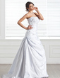 A-Line/Princess Sweetheart Court Train Taffeta Wedding Dress With Ruffle Beading Sequins (002005284)