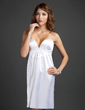 Empire Sweetheart Knee-Length Charmeuse Cocktail Dress With Ruffle Beading (008015376)