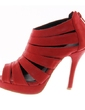 Leatherette Stiletto Heel Sandals Pumps Peep Toe With Hollow-out shoes (087039117)