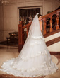 Two-tier Chapel Bridal Veils With Ribbon Edge (006024487)