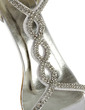 Women's Satin Stiletto Heel Sandals With Buckle Rhinestone (047005860)