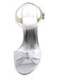 Women's Satin Stiletto Heel Sandals With Buckle Rhinestone (047039652)