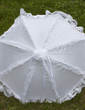 Compact Terylene/Lace Wedding Umbrellas With Appliques (124036966)