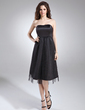 Empire Sweetheart Knee-Length Satin Satin Maternity Bridesmaid Dress With Ruffle (045004405)