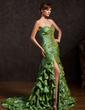 Denizkızı Kalp Kesimli Kısa Kuyruk Taffeta Mezuniyet Elbisesi (018015053)