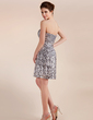 A-Line/Princess Sweetheart Short/Mini Sequined Cocktail Dress (016005832)