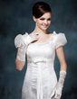 Elastic Satin Elbow Length Bridal Gloves (014020476)