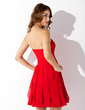 A-Line/Princess Sweetheart Short/Mini Chiffon Homecoming Dress With Cascading Ruffles (022010596)