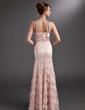 Denizkızı Kalp Kesimli Uzun Etekli Charmeuse Lace Gelin Annesi Elbisesi Ile Büzgü Boncuklama Pullarda (008006523)