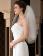 Three-tier Elbow Bridal Veils With Cut Edge (006036625)