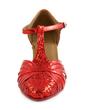 Dla kobiet Skóra ekologiczna Sparkling Glitter Obcasy Pompy Nowoczesny Z T-Strap Buty do Tańca (053012237)