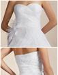 Balo Elbisesi Kalp Kesimli Diz Hizası Taffeta Organza Gelinlik Ile Büzgü Feather Çiçek(ler) (002012097)
