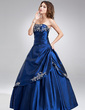 A-Line/Princess Strapless Floor-Length Taffeta Quinceanera Dress With Embroidered Ruffle Beading (021017120)
