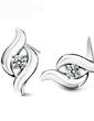 Elegant Sterling Silver With Crystal Ladies' Earrings (011037034)