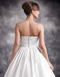 Ball-Gown Sweetheart Floor-Length Satin Wedding Dress With Ruffle Lace (002016899)