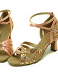 Women's Satin Sparkling Glitter Sandals Latin Ballroom Dance Shoes (053013269)