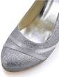 Women's Sparkling Glitter Stiletto Heel Closed Toe Pumps (047039651)