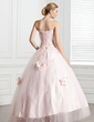 Ball-Gown Sweetheart Floor-Length Tulle Quinceanera Dress With Beading Flower(s) (021020807)