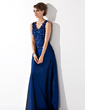 A-Line/Princess V-neck Floor-Length Taffeta Mother of the Bride Dress With Lace Beading Sequins (008013955)