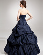 Ball-Gown Strapless Floor-Length Taffeta Quinceanera Dress With Ruffle Beading Sequins (021020888)