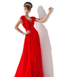 A-Line/Princess V-neck Floor-Length Chiffon Mother of the Bride Dress With Beading Cascading Ruffles (008013794)