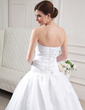 Ball-Gown Sweetheart Chapel Train Satin Organza Wedding Dress With Ruffle Beading Appliques Lace Sequins (002012152)
