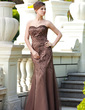 Trumpet/Mermaid Sweetheart Floor-Length Satin Mother of the Bride Dress With Beading Sequins (008018737)