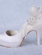 Women's Satin Cone Heel Peep Toe Platform Sandals With Beading Rhinestone (047024172)