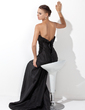 Trumpet/Mermaid Scalloped Neck Sweep Train Taffeta Evening Dress With Ruffle (017021133)
