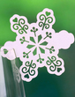 Snowflake Pearl Paper Place Cards (set of 12) (131037429)