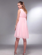 Empire One-Shoulder Knee-Length Chiffon Homecoming Dress With Ruffle (022020717)