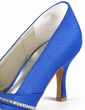 Women's Satin Stiletto Heel Peep Toe Sandals With Rhinestone (047010808)