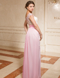 A-Line/Princess Off-the-Shoulder Floor-Length Chiffon Lace Mother of the Bride Dress With Ruffle Beading Cascading Ruffles (008024459)