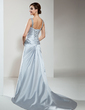 A-Line/Princess Sweetheart Court Train Satin Wedding Dress With Ruffle Lace Beading (002000464)