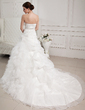 Ball-Gown Sweetheart Cathedral Train Satin Organza Tulle Wedding Dress With Ruffle Lace Beading (002011767)
