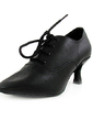 Women's Real Leather Heels Pumps Ballroom Swing Dance Shoes (053013399)