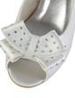 Women's Satin Wedge Heel Peep Toe Sandals With Bowknot (047033124)
