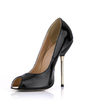 Patent Leather Stiletto Heel Sandals Peep Toe shoes (085022633)