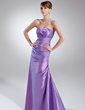 A-Line/Princess Sweetheart Floor-Length Taffeta Bridesmaid Dress With Ruffle (007020702)