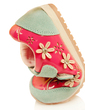 Suede Flat Heel Flats With Flower shoes (086039151)